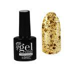Лак для ногтей с эффектом гелевого покрытия 10 мл 6602-35 золото блестки