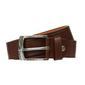 Ремень мужской 'Квадраты', винт, пряжка под металл, ширина - 3см, коричневый Ош