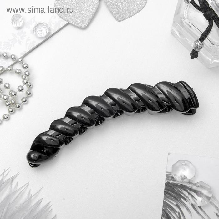 """Банан для волос """"Классика черный"""" 10,5 см плетение"""