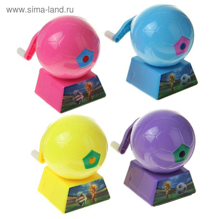 Точилка механическая с контейнером МИКС Мяч