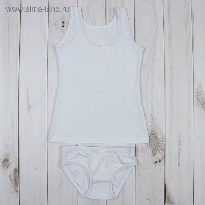 Комплект для девочки (майка, трусы), рост 122 см, цвет белый К267_Д