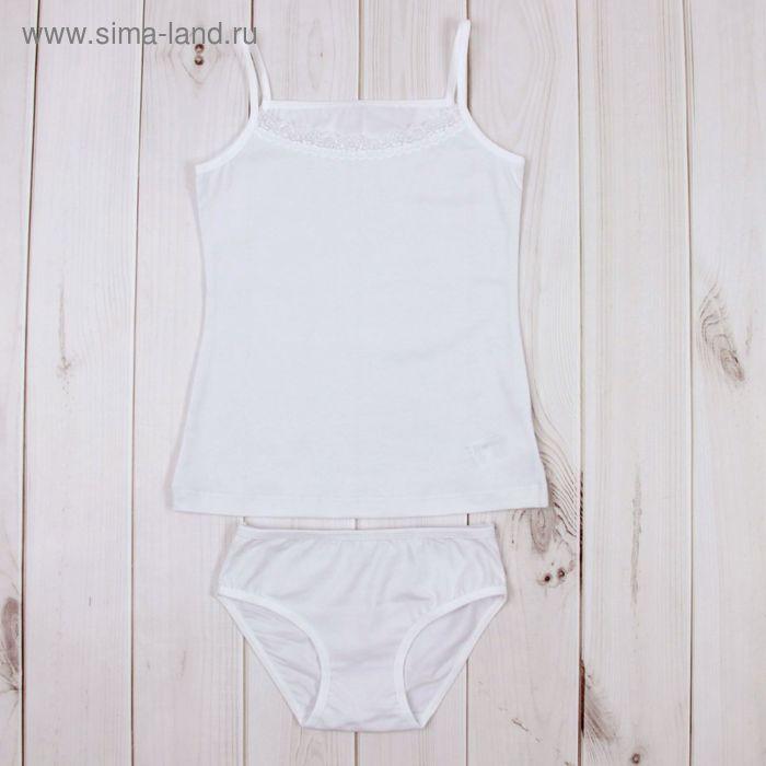 Комплект для девочки (майка, трусы), рост 140 см, цвет белый К309_Д