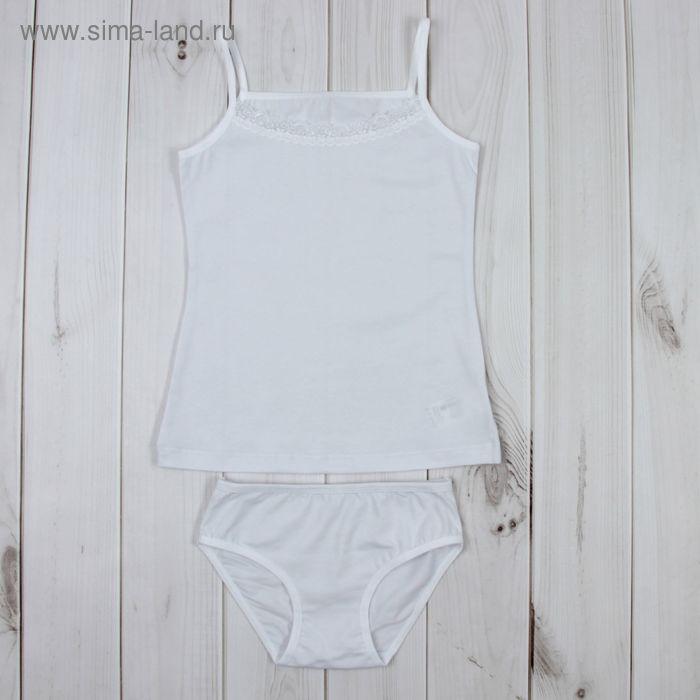 Комплект для девочки (майка, трусы), рост 152 см, цвет белый К309_Д