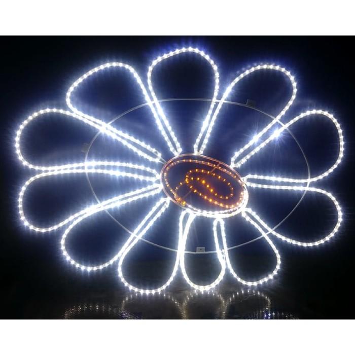 "Светодиодное панно ""РОМАШКА"", 1.5 х 1.22 м, led-шнур 16 м, 40 Вт, металлический каркас"