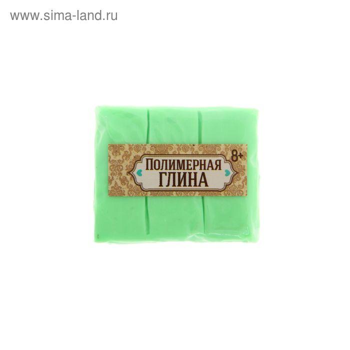 Полимерная глина 30 гр, цвет люминесцентный зеленый