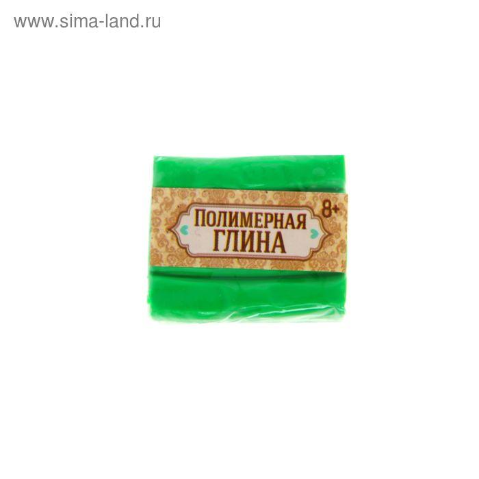Полимерная глина, 15 гр, цвет неон зеленый