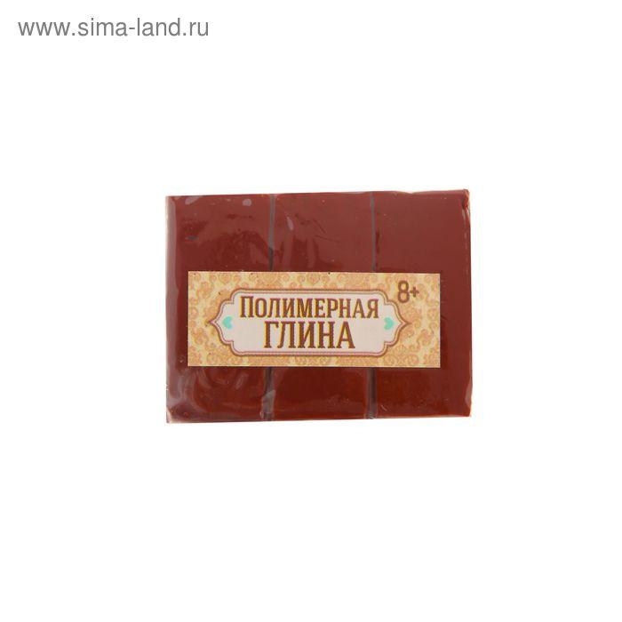 Полимерная глина 30 гр, цвет бордовый