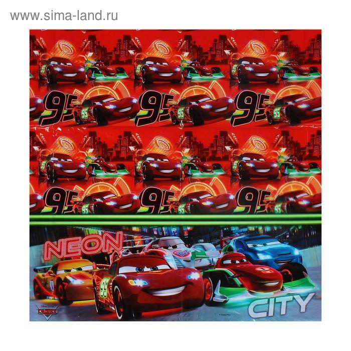 """Скатерть 120*180 см """"Тачки. Неоновый город"""" / Cars Neon"""