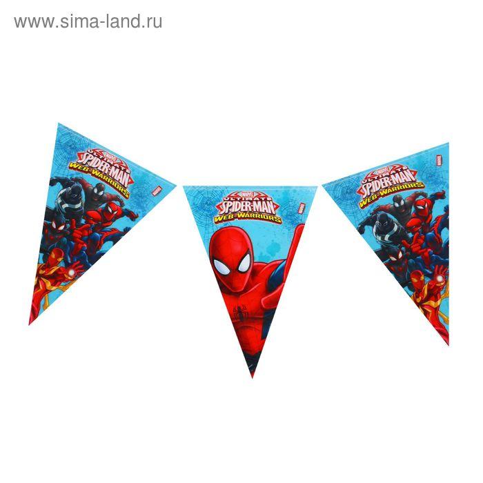 "Гирлянда-вымпелы 2,3 м ""Человек-Паук"" / Ultimate Spiderman Web Warriors"
