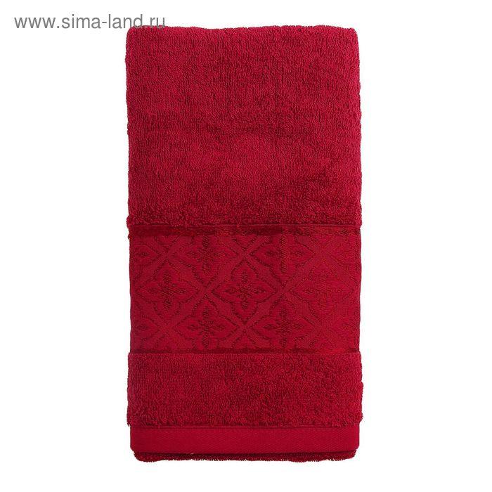 Полотенце махровое TWO DOLPHINS LEMISA 70х140 см бордовый, хлопок, 460 гр/м