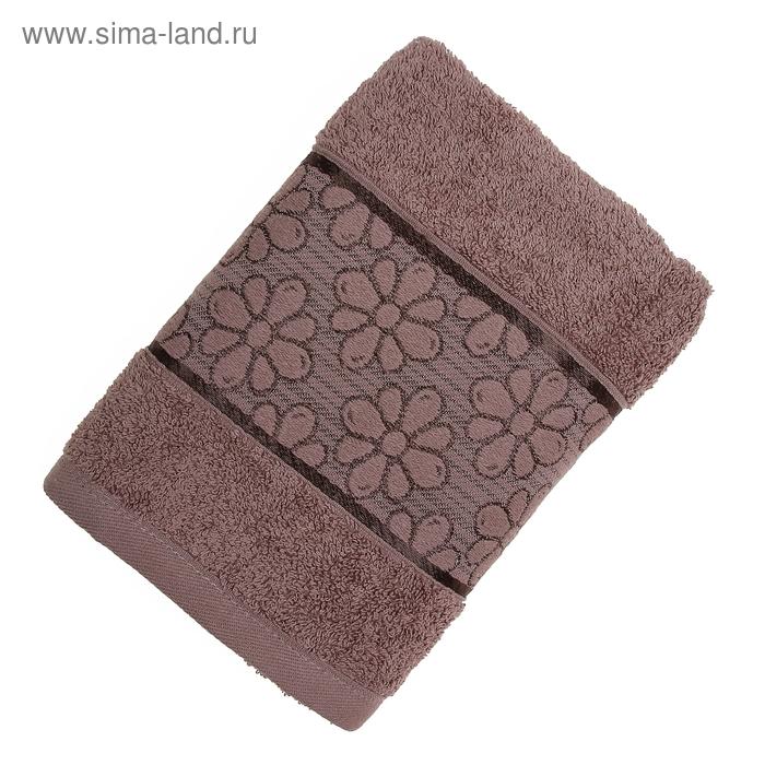 Полотенце махровое TWO DOLPHINS ANJELA 50*90 см коричневый, хлопок, 460 гр/м