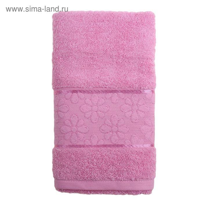 Полотенце махровое TWO DOLPHINS ANJELA 50*90 см розовый, хлопок, 460 гр/м