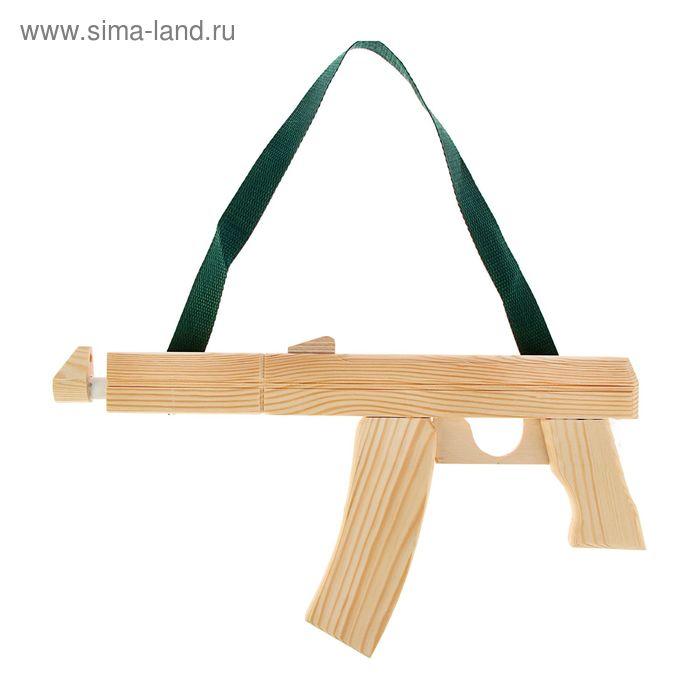 Сувенир деревянный  «Автомат Калашникова» белый