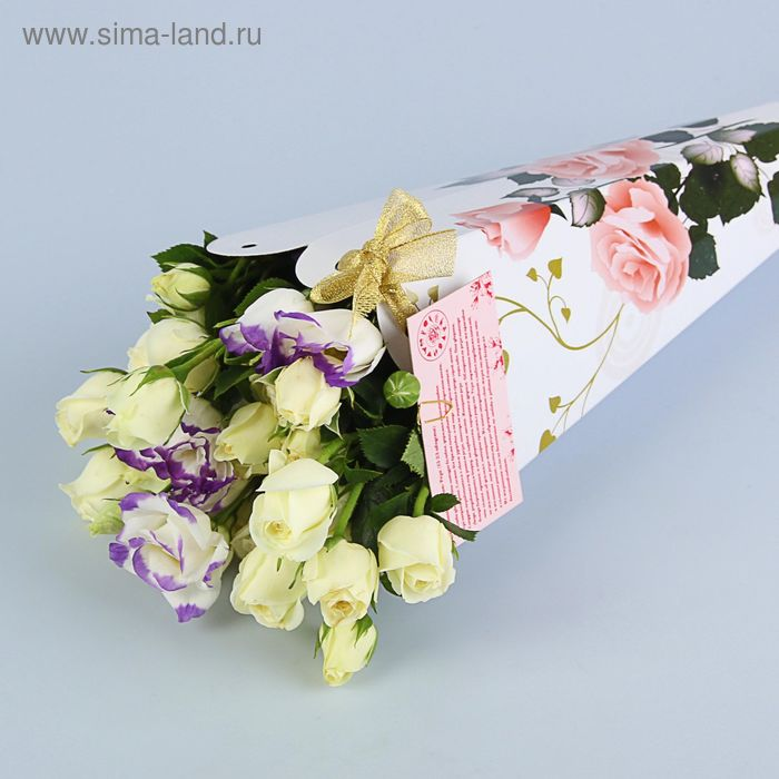 "Конус для цветов ""Роза флорибунда"" серия цветы, 27х13 см"