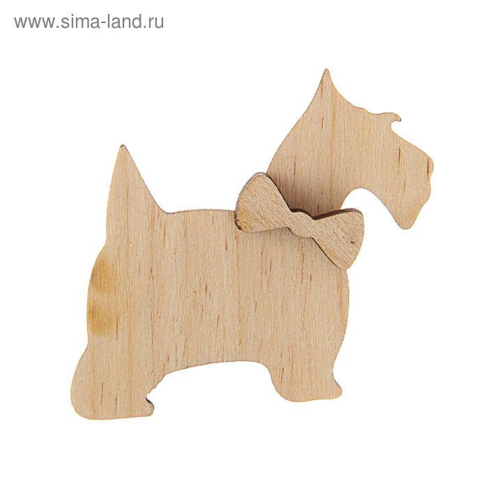 """Заготовка""""Пёс с бабочкой"""" 4см"""