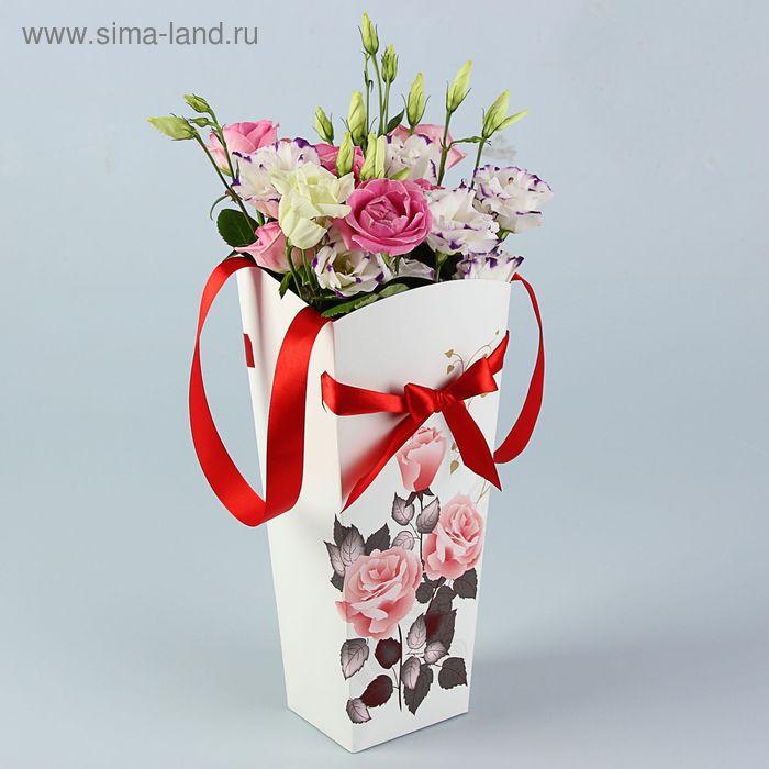 "Пакет для цветов ""Роза чайная"" серия цветы, 12х10 см"