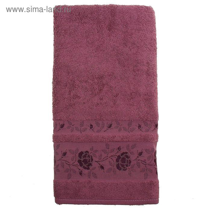 Полотенце махровое DO&CO GULFEM 50*90 см тёмно-розовый, хлопок, 460 гр/м
