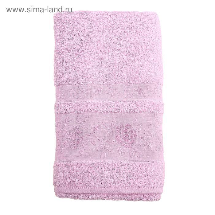Полотенце махровое DO&CO GULFEM 70*140 см розовый, хлопок, 460 гр/м