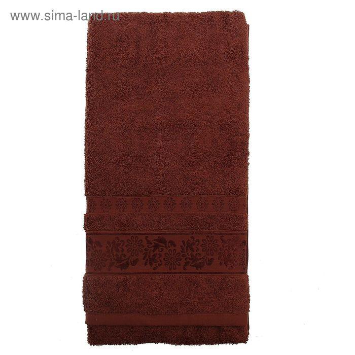 Полотенце махровое TWO DOLPHINS ILAYDA 70*140 см шоколадный, хлопок, 460 гр/м