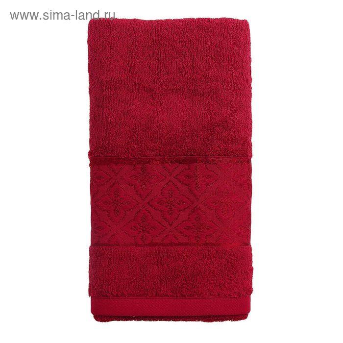 Полотенце махровое TWO DOLPHINS LEMISA 50х90 см бордовый, хлопок, 460 гр/м