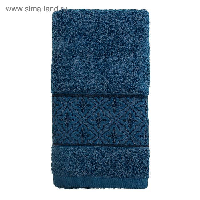 Полотенце махровое TWO DOLPHINS LEMISA 50х90 см тёмно-голубой, хлопок, 460 гр/м