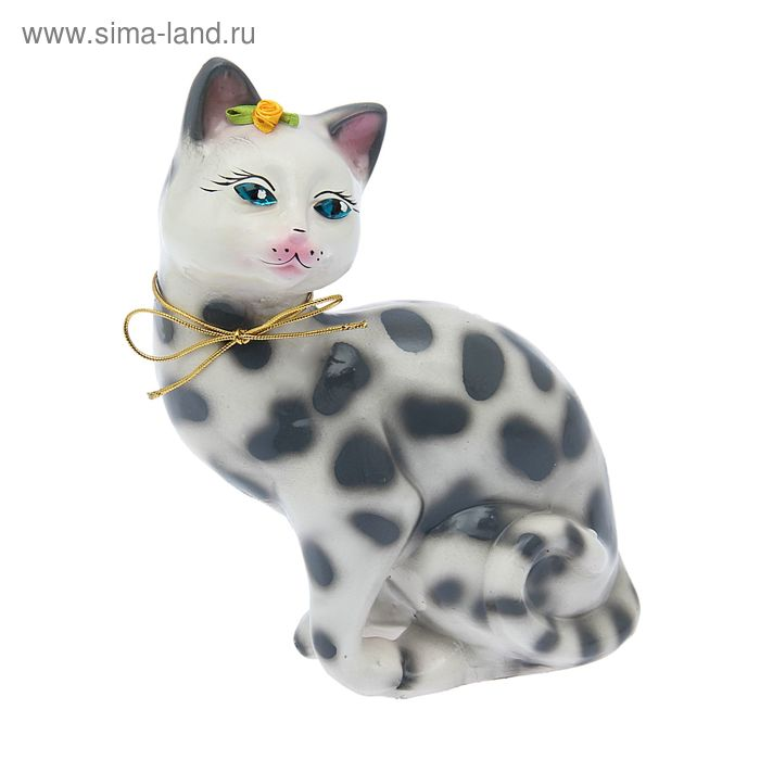 "Копилка ""Шарлотта"" глянец, белый леопард"