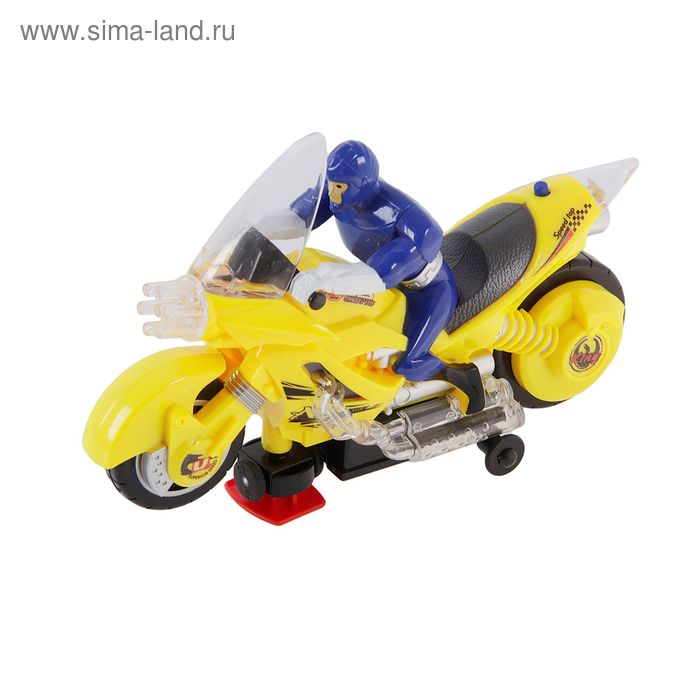 """Мотоцикл """"Гонщик"""", со световыми и звуковыми эффектами в пакете"""