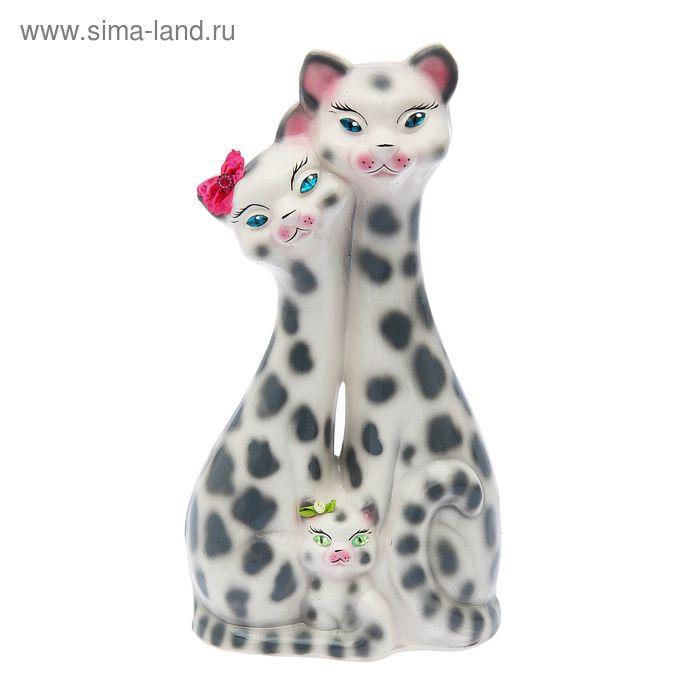 """Копилка """"Семья большая"""" глянец, белый леопард"""
