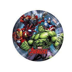 """Тарелки бумажные """"Мстители"""" 20 см (набор 8 шт) / Avengers Power"""