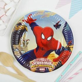 """Тарелки бумажные """"Человек-паук"""", 20 см, набор 8 шт."""