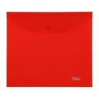 Папка-конверт на кнопке А5 180мкм, красная