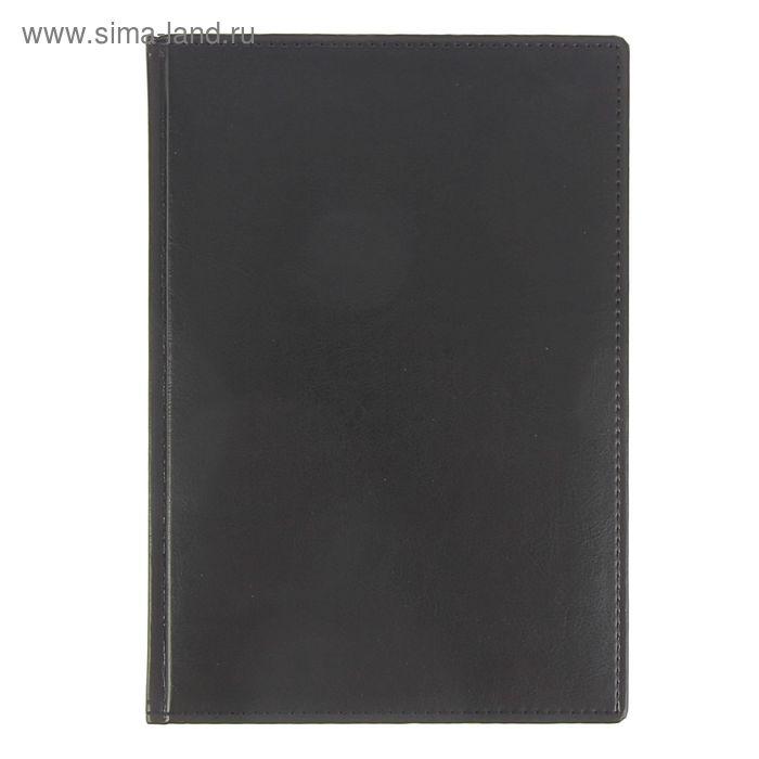 Ежедневник датированный 2017г А4 176 листов SARIF, ляссе, черный