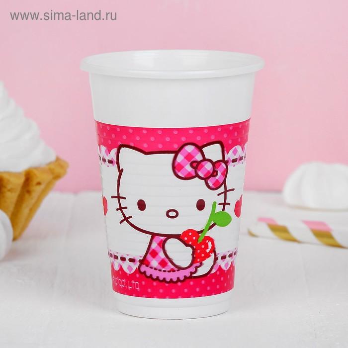 """Стаканы пластиковые """"Хэллоу-Китти"""" 200 мл (набор 8 шт) / Hello Kitty Hearts"""