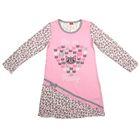 Сорочка ночная для девочки, рост 104 см (56), цвет розовый/серый CAK 5253_Д