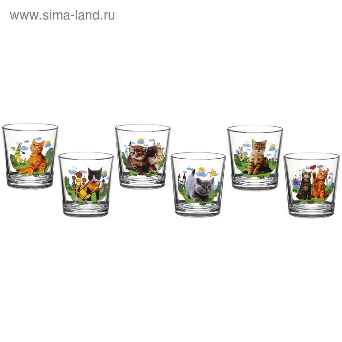 """Набор стаканов 250 мл """"Котята"""", 6 шт"""