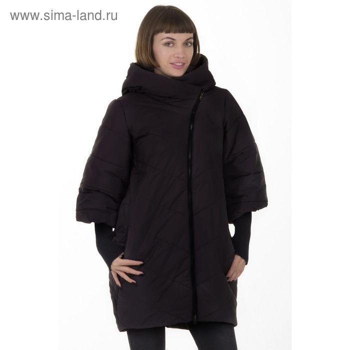 Куртка женская, размер 50, рост 168, цвет черный (арт. 48 С+)