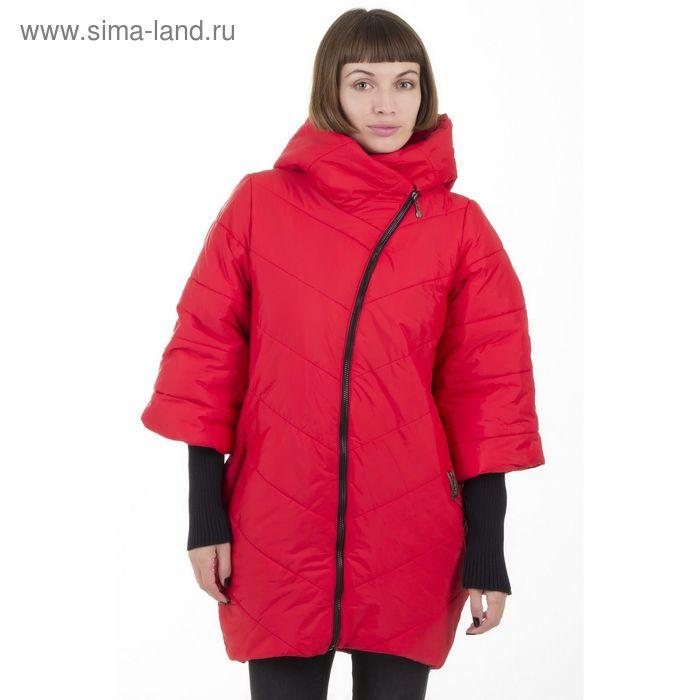 Куртка женская, размер 50, рост 168, цвет красный (арт. 48 С+)