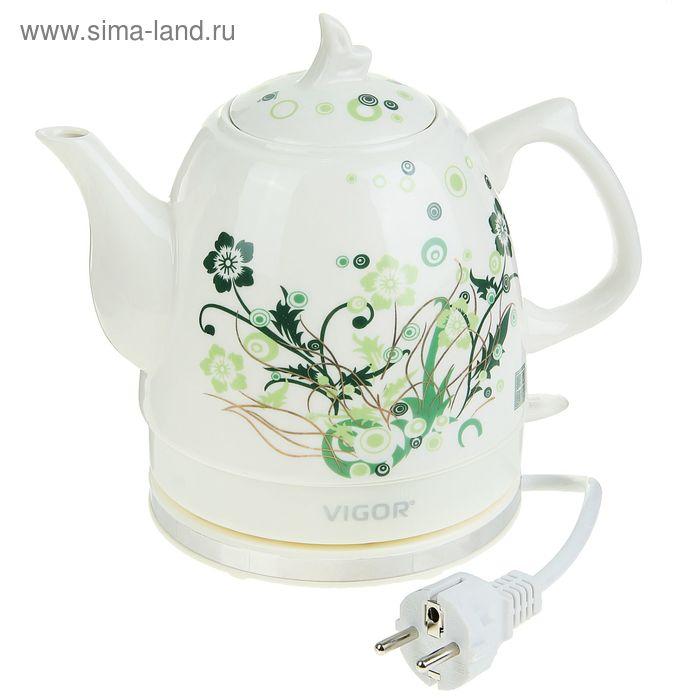Чайник  электрический Vigor HX-2096, 1200 Вт, 1,2 л, керамика