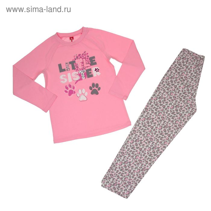 Пижама для девочки, рост 140 см (72), цвет светло-розовый CAJ 5255_Д