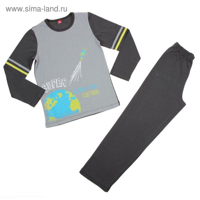 Пижама для мальчика, рост 134 см (68), цвет серый CAJ 5274_Д