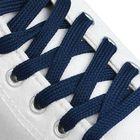 Шнурки для обуви плоские, ширина 7мм, 180см, цвет синий