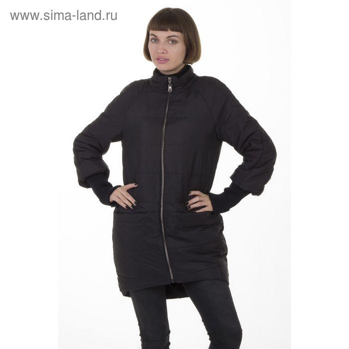 Куртка женская, размер 48, рост 168, цвет черный (арт. 53)