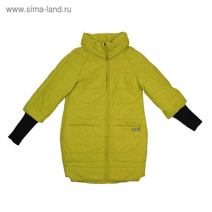 Куртка женская, размер 54, рост 168, цвет лайм (арт. 52 С+)