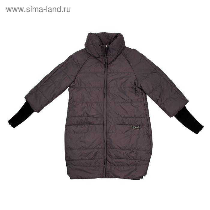 Куртка женская, размер 54, рост 168, цвет асфальт (арт. 52 С+)