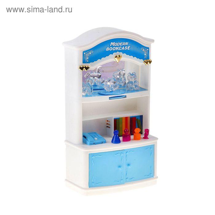 """Набор мебели для куклы""""Книжный шкаф""""работает от батареек,свет. и звук. эффекты в пакете"""