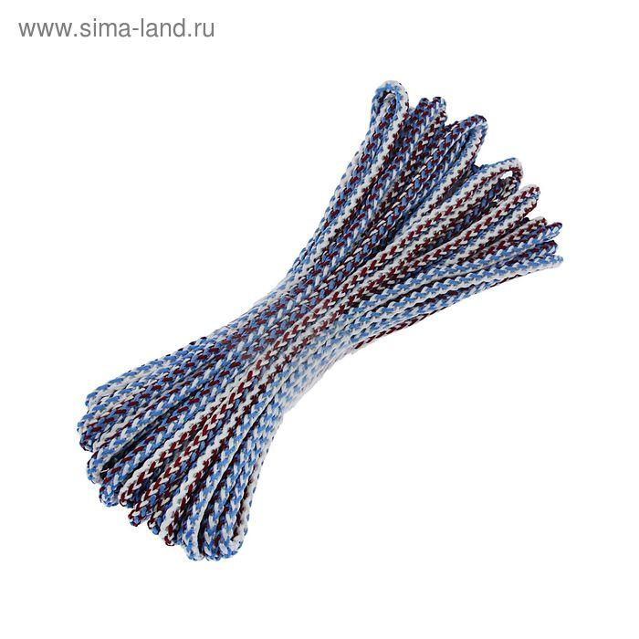 Шнур вязанный 20 м с сердечником d=6 мм