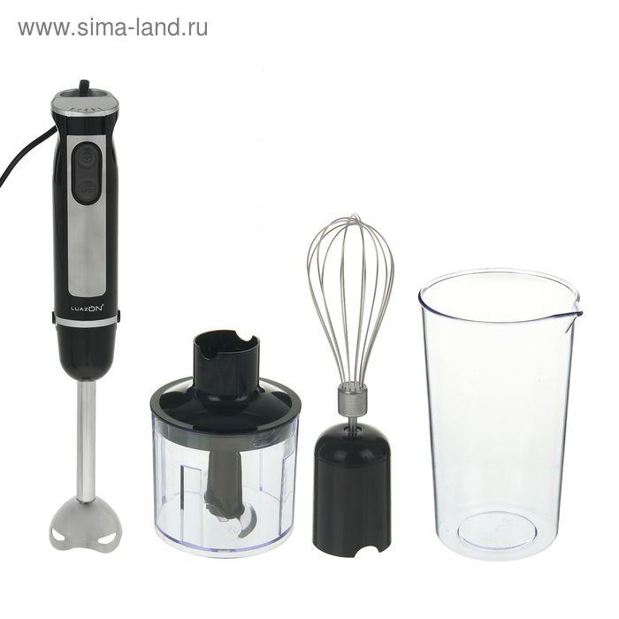Блендер погружной LuazON LBR-06, 700Вт, 5 скоростей, турбо 3 в1 (чоппер, стакан и венчик)