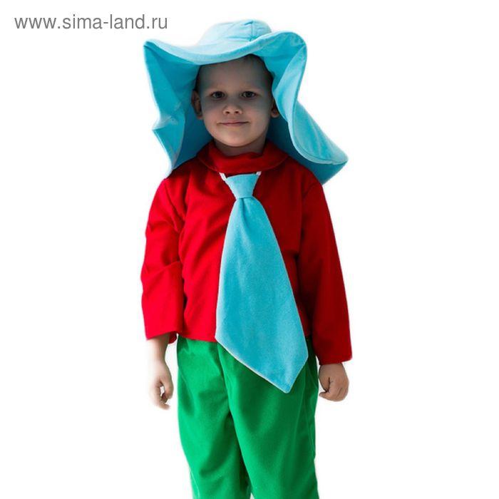 """Карнавальный костюм """"Незнайка"""", шляпа, рубашка, галстук, бриджи, 5-7 лет, рост 122-134 см"""