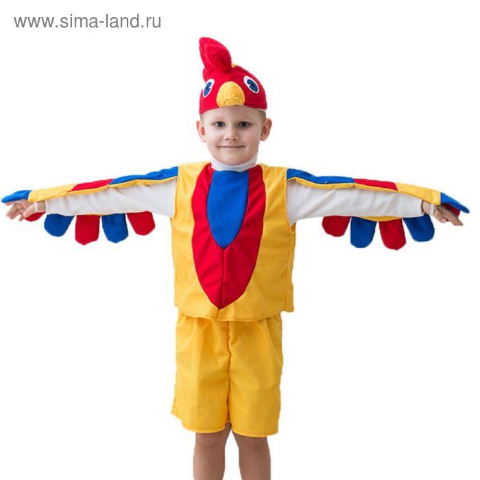 """Карнавальный костюм """"Петушок"""", шапка, безрукавка с крыльями, шорты с хвостом, 3-5 лет, рост 104-116 см"""