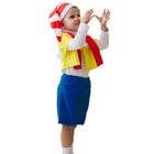 """Карнавальный костюм """"Буратино"""", колпак, курточка, шарфик, бриджи, 3-5 лет, рост 104-116 см"""